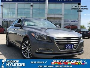 2016 Hyundai Genesis 3.8|LUXURY|NAV|PANO SUNROOF|LEATHER|BACK-UP