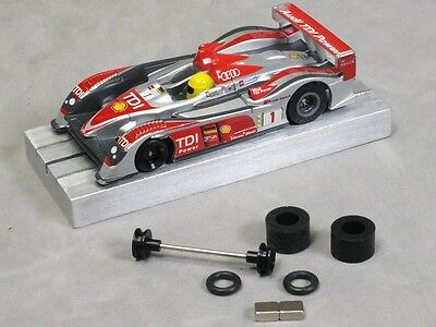 Car Parts - HO Slot Car Parts MEGA-G Hop-Up Kit - O-Ring Axle Set, Super Tires, L52 Magnets