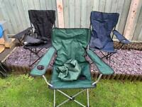 Set 3 camping chairs