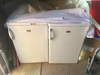 1 freezer and 1 fridge (both zanussi)