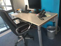 quality office desk Lensvelt adjustable aluminum legs come with pedestal filing cabinet