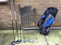 Lovely set of Tour System golf clubs and Bag - ideal for a teenager starter set.