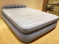 Aerobed Airbed with Headboard - Inflatable Double Bed