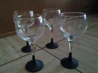 Chalkboard stem wine glasses