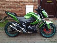 2014 Kymco CK1 125 learner motorcycle, long MOT, sports exhaust, service history, not cbr yzf cbf