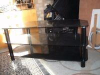 Smoke glass television table