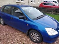 2002 Honda Civic - 6 months MOT - Spares or Repairs
