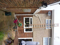 Double Wooden Extendable Ladders