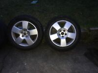 WHEELS AND TYRES. 225/55/17R. VW. AUDI