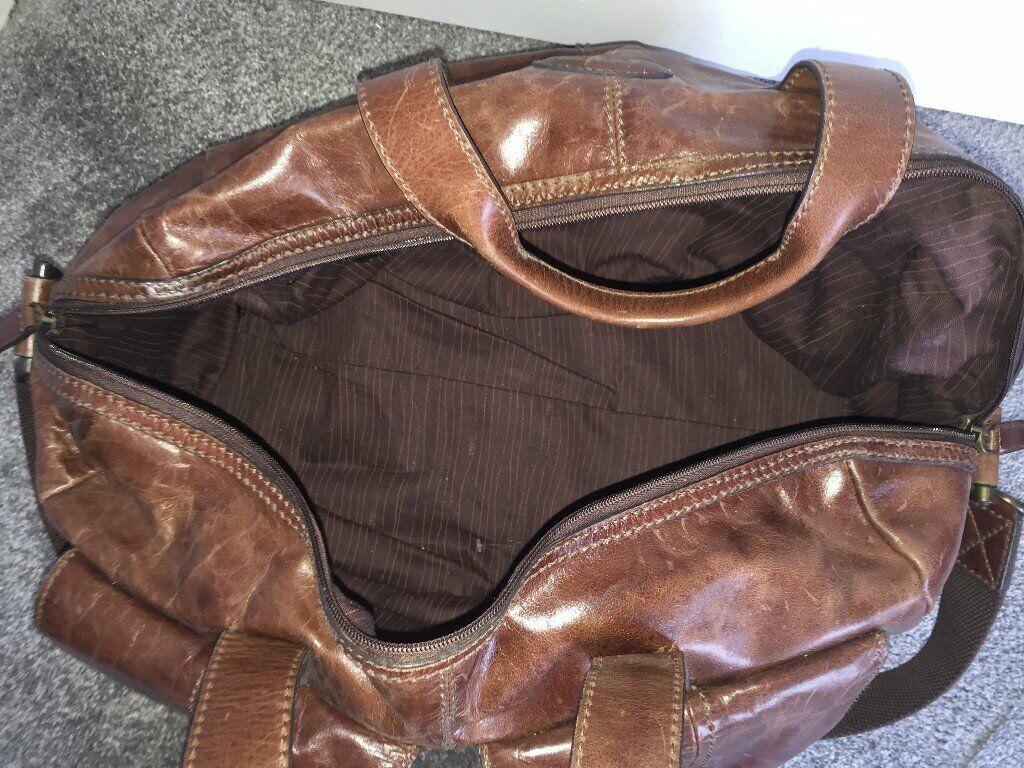 Fossil Bag Duffle Gym Mens Brown Leather In Milton Keynes Buckinghamshire Gumtree