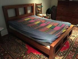 Indian wood king size bed frame
