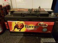 Banner agm 92ah battery car caravan motor home