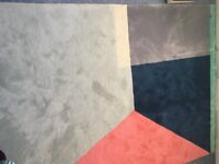 John Lewis Beautiful Contemporary Geometric Rug, excellent condition