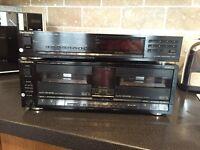 Technics twin cassette player & tuner