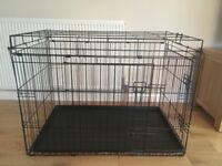 LARGE BLACK DOG CAGE