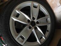 4x genuine audi alloys w/tyres