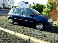 Renault Clio for sale. Very good car all around. MOT until December 2016