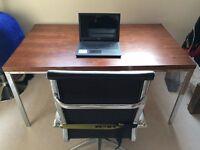 Walnut veneer office desk / dining table