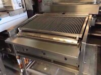 COMMERCIAL THREE BURNER CHAR FOR RESTAURANTS CUISINE DINING BARBECUE TAKEOUT FASTFOOD KITCHEN