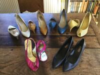 6 pairs of fabulous shoes (vintage and modern) size 4 (37)
