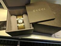 Gucci twirl gold plated watch
