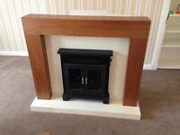 HMB SHERIDAN ELECTRIC STOVE - with lights in walnut veneer