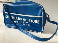 Vintage Retro 1970s Ford Motors Shoulder Bag RS Blue Chatfields Of Stoke