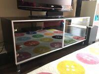 Preloved Ikea Besta dark wood tv cabinet.