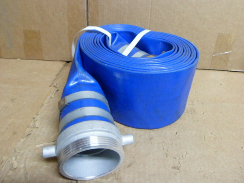 """New PVC Blue Water Discharge Hose, 3"""" x 20 Ft."""