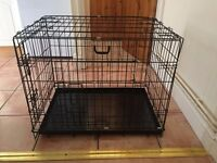 Medium Dog Crate with Waterproof Bed
