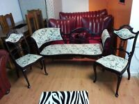 Lovely antique set two setter and two chairs. excellent condition.