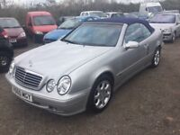 MERCEDES CLK AUTOMATIC 230 BLUE GREY FULL LEATHER INTERIOR FULLY LOADED LOVELY DRIVER ALLOYS CD