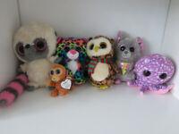 Bundle of 6 TY soft toys