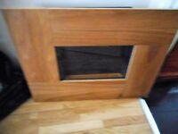 oak framed adams flame effect electric wall fire