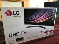LG 4K smart TV model 43UH66