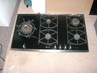 NEFF 5 burner gas ceramic hob with stainless surround