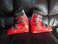 red salmom ski boots size 7.5 to 8 uk