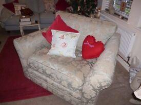 Armchair/Cuddle chair,Harvey's V.G.C Duck egg Blue