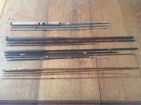 Antique fishing rods and reels