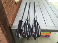 St Andrews 3 Wood, 5 Wood & Rescue Hybrid Club. All Very Good Condition.