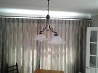 Fench style two bracket Pendant light matching wall lights