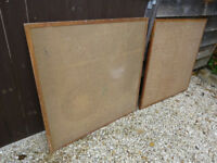 Pinboards x 2 - sturdy with hardwood frame.