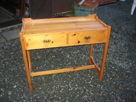 SOLID PINE VERSATILE TABLE/DESK/DRESSING TABLE/WASHSTAND. 2 DEEP DRAWERS. VIEW/DELIVERY POSS