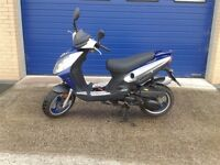 2014 JONWAY MADNESS 125 SCOOTER MOPED , VERY CLEAN ONLY 800 MILES 125CC ALARM FITTED