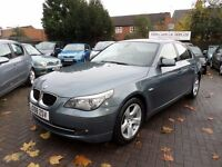 BMW 5 SERIES 2.0 520d SE 4dr, 2008 (58 REG), BLUE, ONLY 63,000 MILES WITH FULL SERVICE HISTORY