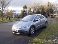 2007 57 HONDA CIVIC 1.4NEW SHAPE NEW MOT NEW CLUTCH 1 OWNER SMOOTH RELIABLE CAR