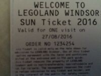 Legoland Tickets x 6 (27th August 2016 only)