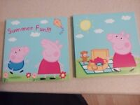 Peppa pig wall canvases