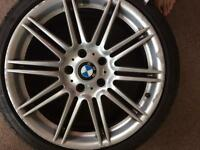 BMW alloys 18 inch for sale with Tyres