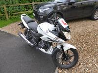 2013 White Honda CBF 125 M-D. Only 3100 miles. MOT May 2018. Learner legal
